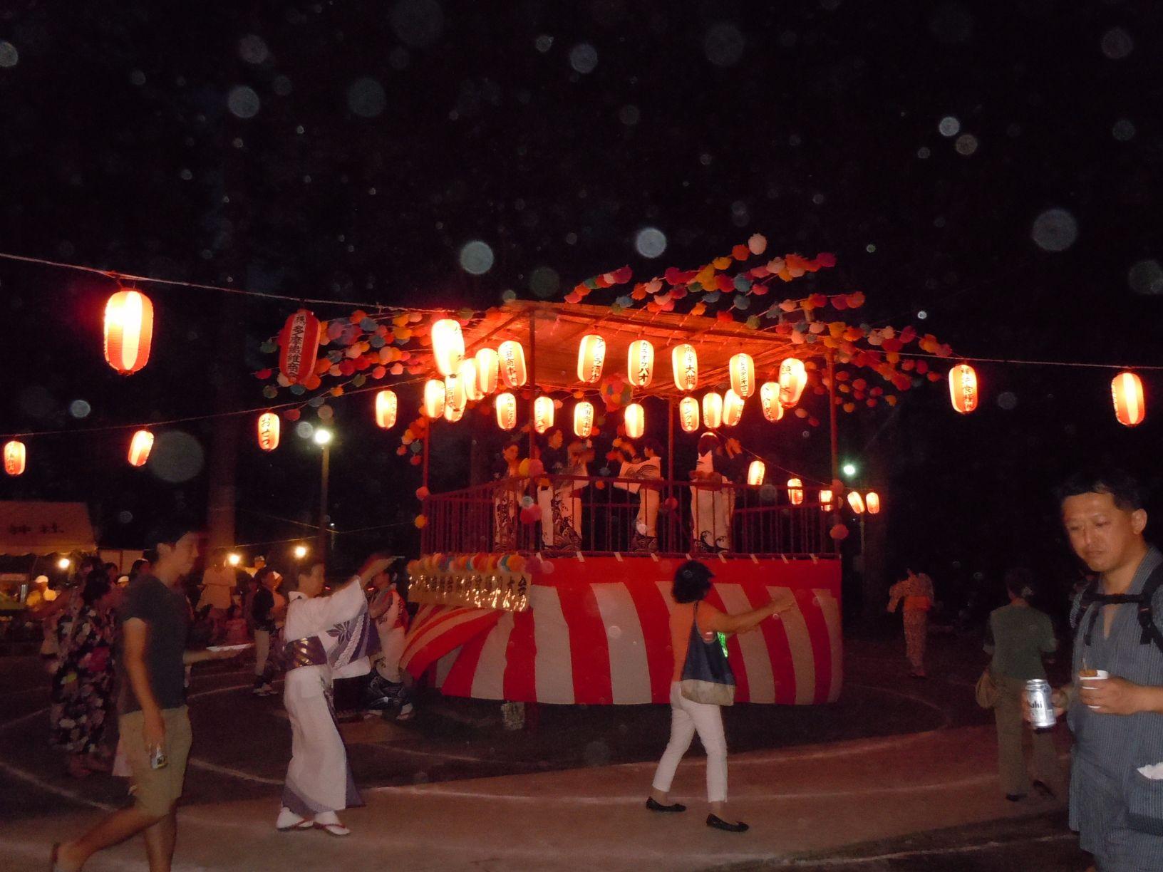 シルバーシティ聖蹟桜ヶ丘の盆踊り参加