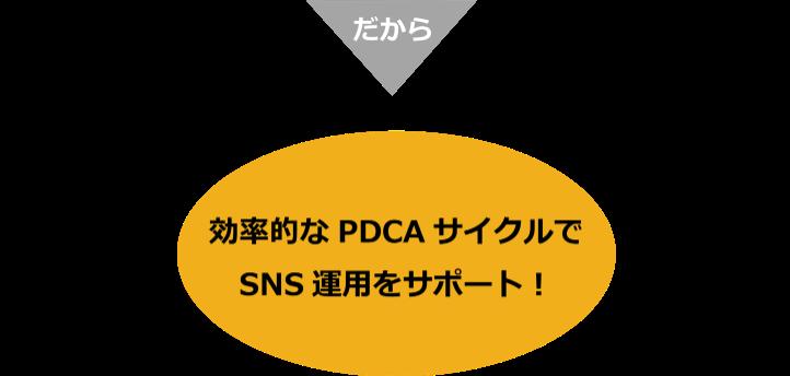 効率的なPDCAサイクルでSNS運用をサポート